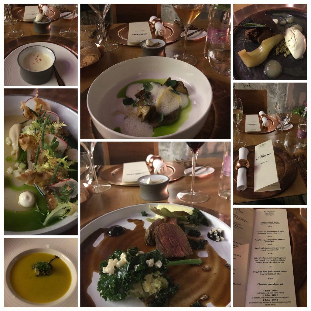 six courses of haute cuisine food from Strelec restaurant in Ljubljana