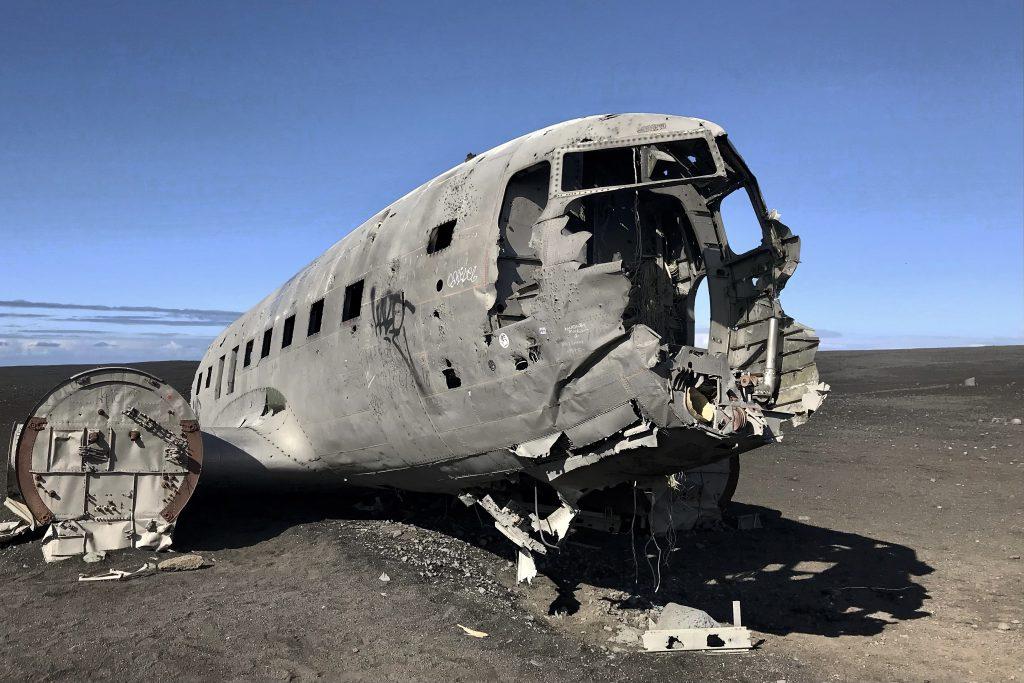 DC3 plane wreck at Sólheimasandur in Iceland
