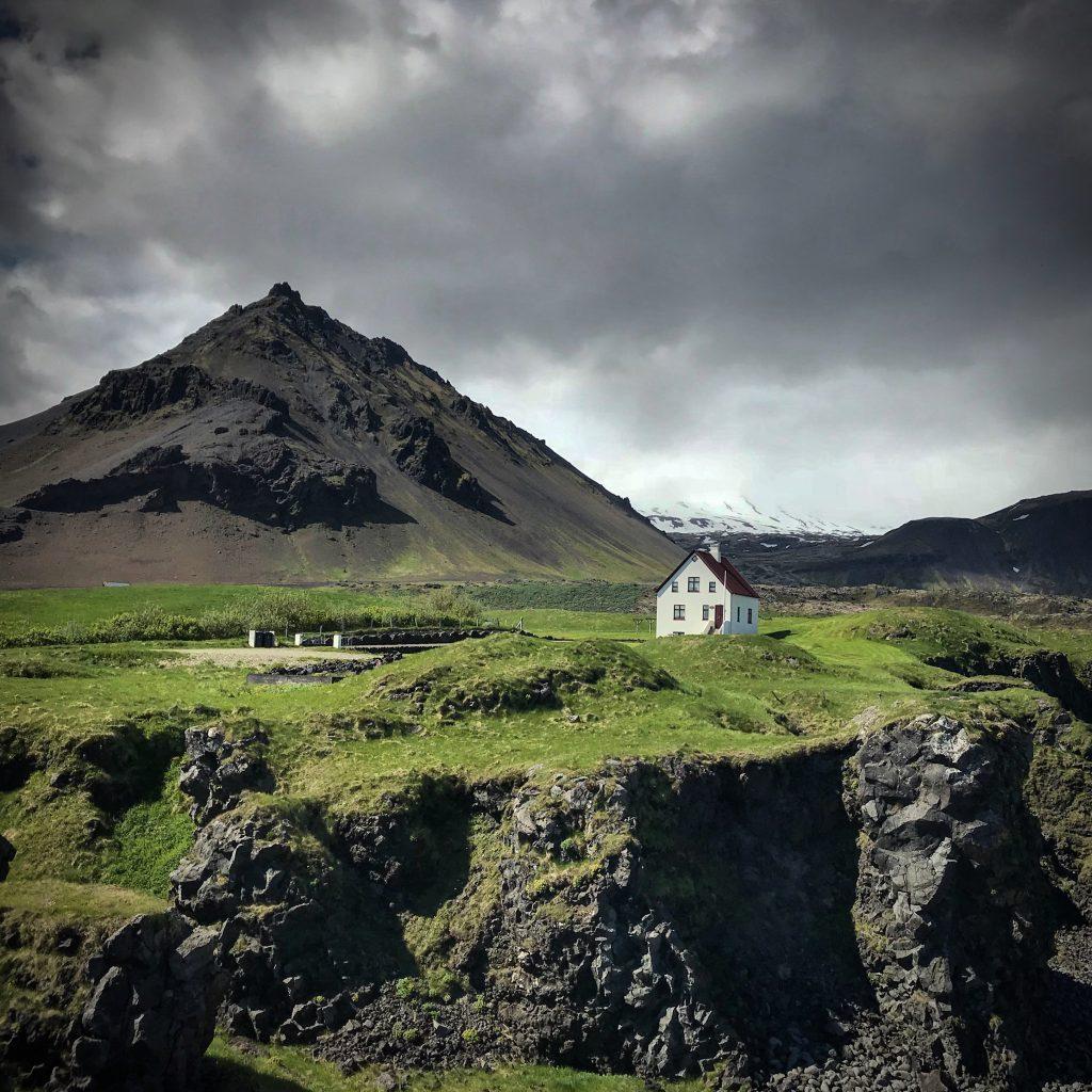 Arnastapi hamlet in the Snæfellsnes peninsula in iceland