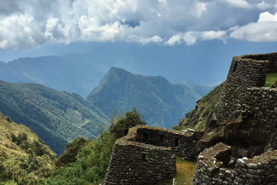 Inca ruins along the inca trail to machu picchu