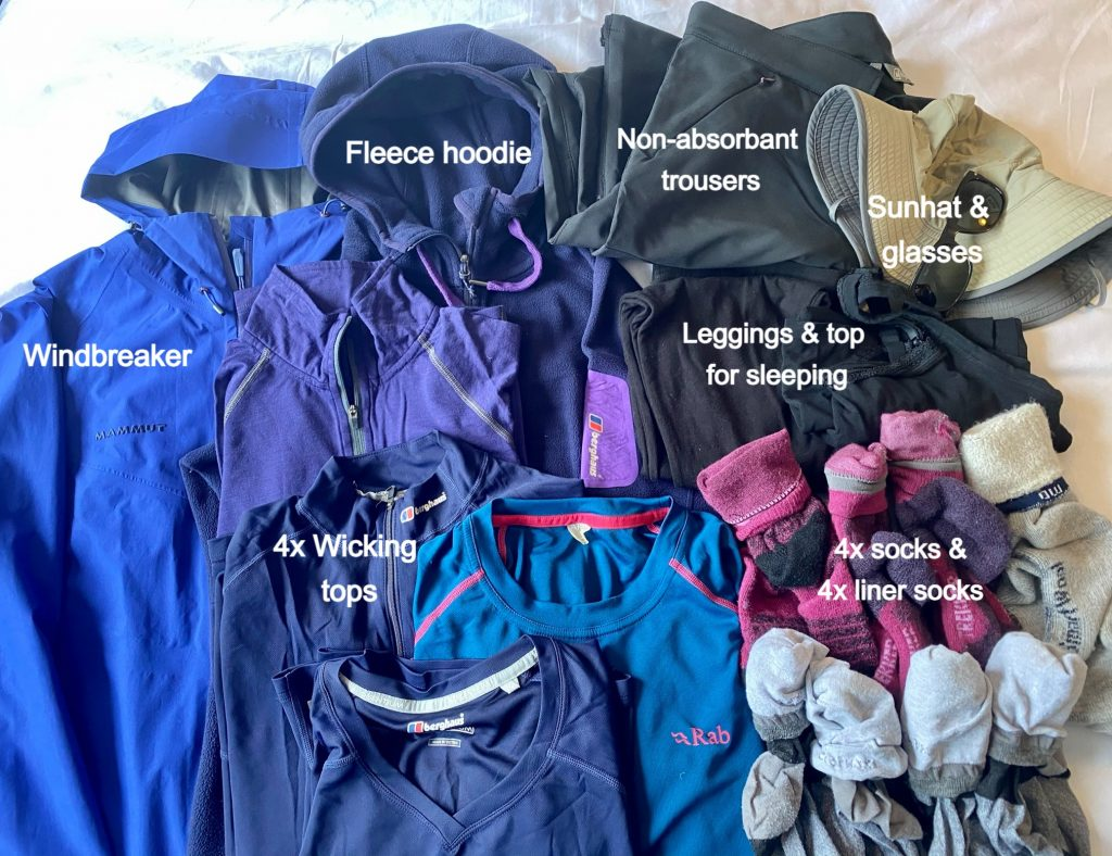 packing list of essential clothes for the inca trail to machu picchu