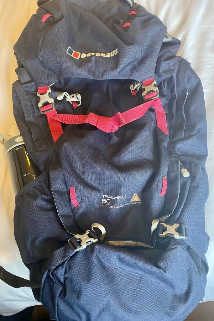 a 60 litre backpack suitable for the inca trail