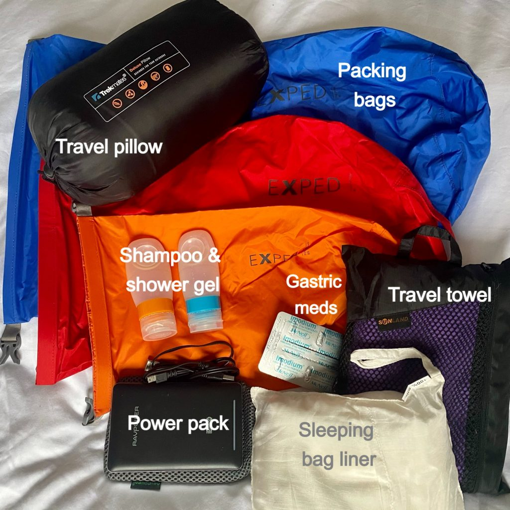 non-essential but useful packing list for the inca trail to machu picchu