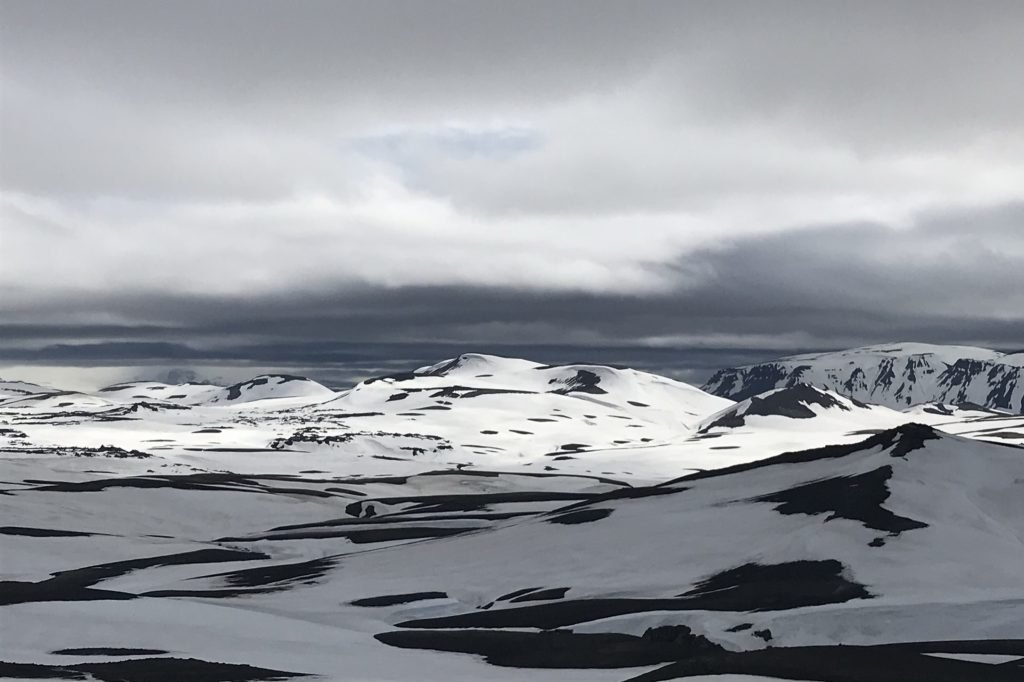 snow-capped mountains in the highlands of iceland