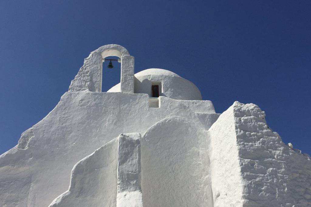 Paraportiani church in Mykonos Town in Greece