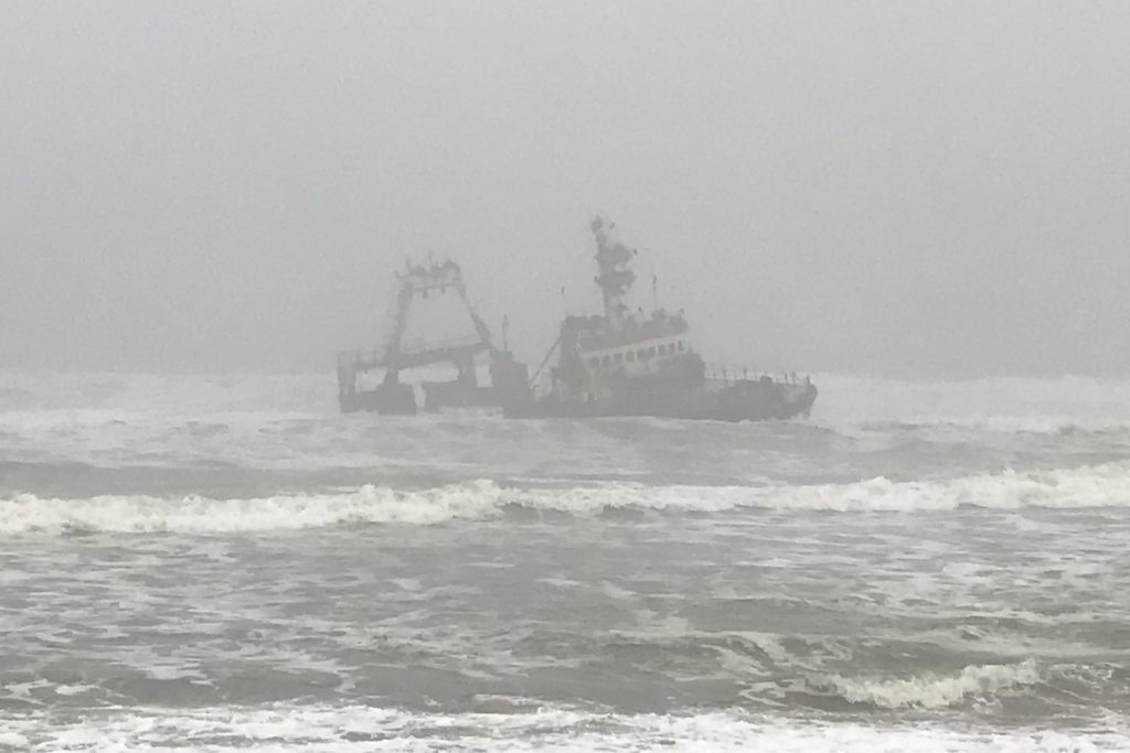 shipwreck of the zeila on the skeleton coast in namibia