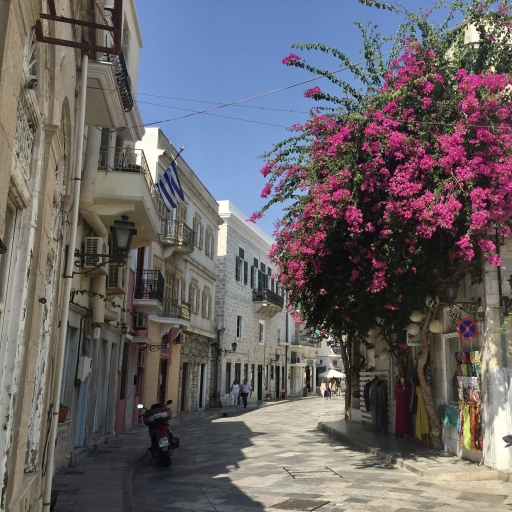 Street scene in Ermoupoli on Syros in the cyclades