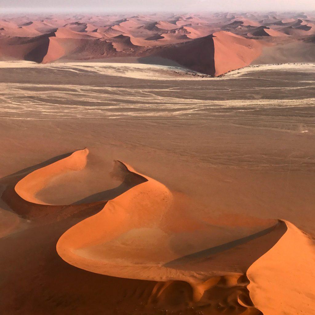 The Devil's Fork dune formation near sossusvlei in the namib desert