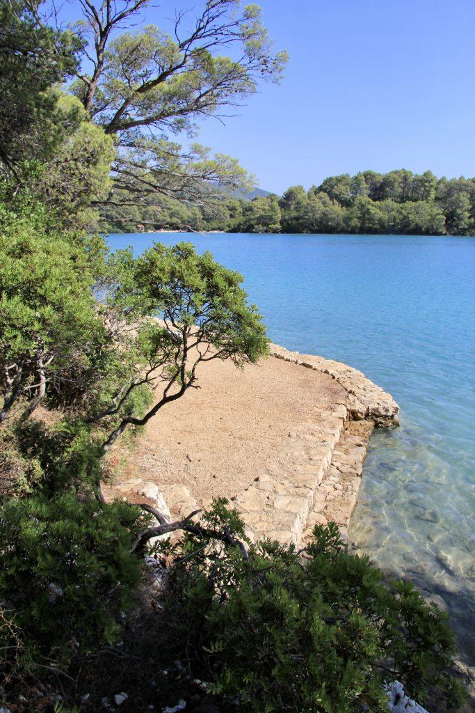 Malo Jezero in Mjlet National Park on Mljet island in Croatia