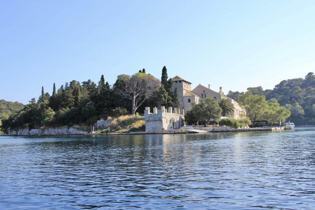 Islet in Veliko Jezero, Mljet island in the Dalmatian Coast