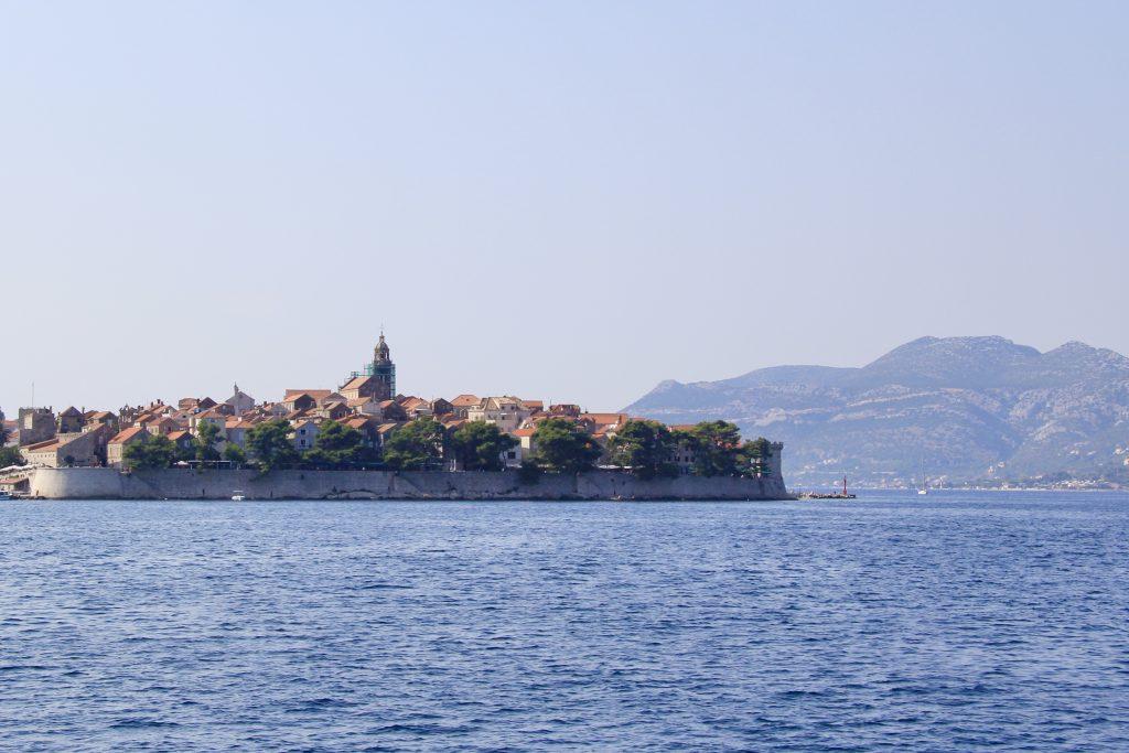 Korčula Town on Korčula Island in the Dalmatian Coast of Croatia