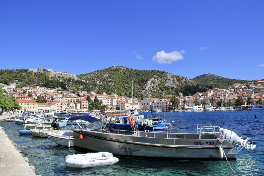 Hvar Town on Hvar Island in the Dalmatian Coast of Croatia