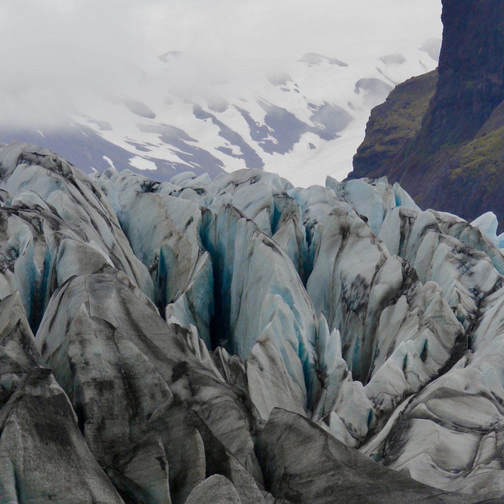 Skaftafellsjökull glacier in Skaftafell in south-east iceland
