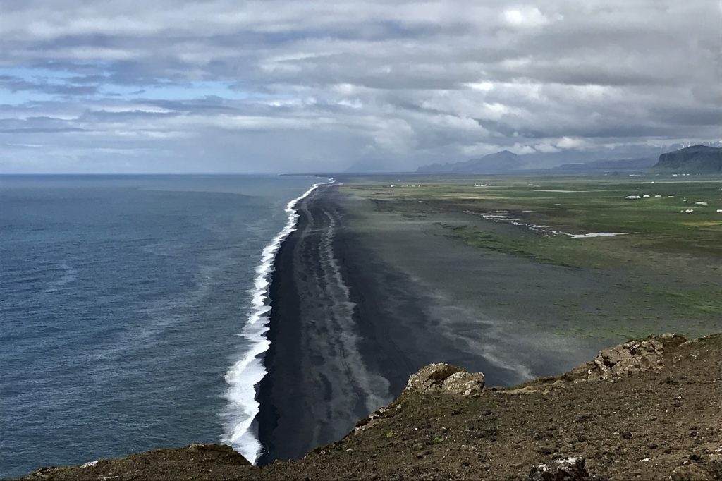 View of the South Iceland coast from Dyrhólaey