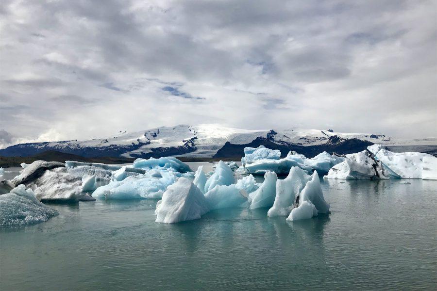 Jokulsarlon glacial lagoon in south east iceland