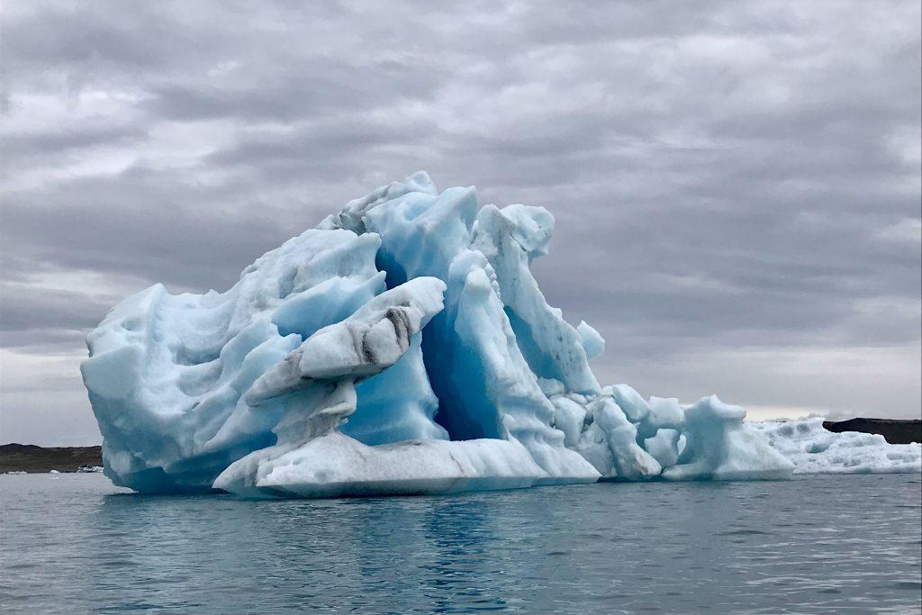 blur Iceberg in Jökulsárlón glacial lagoon in south-east iceland