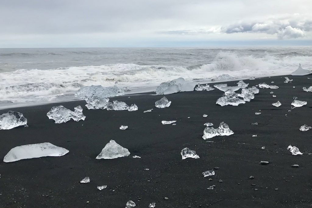 The Diamond Beach in south-east Iceland