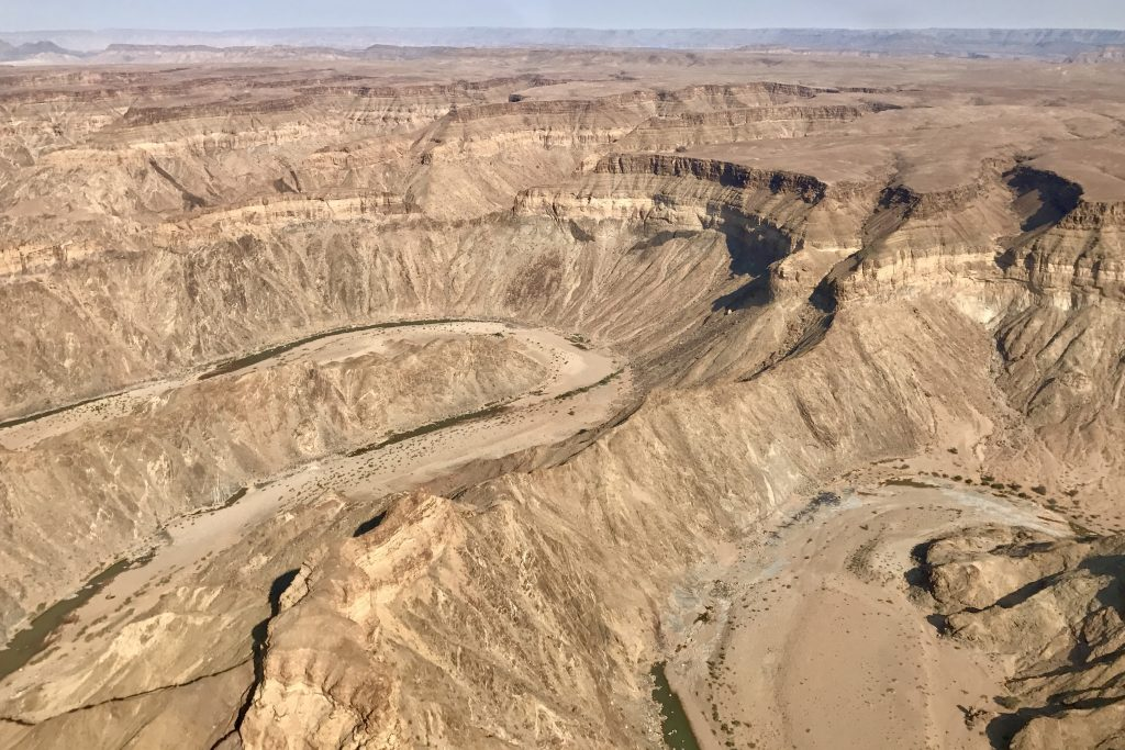 Fish River Canyon on a scenic flight over namibia