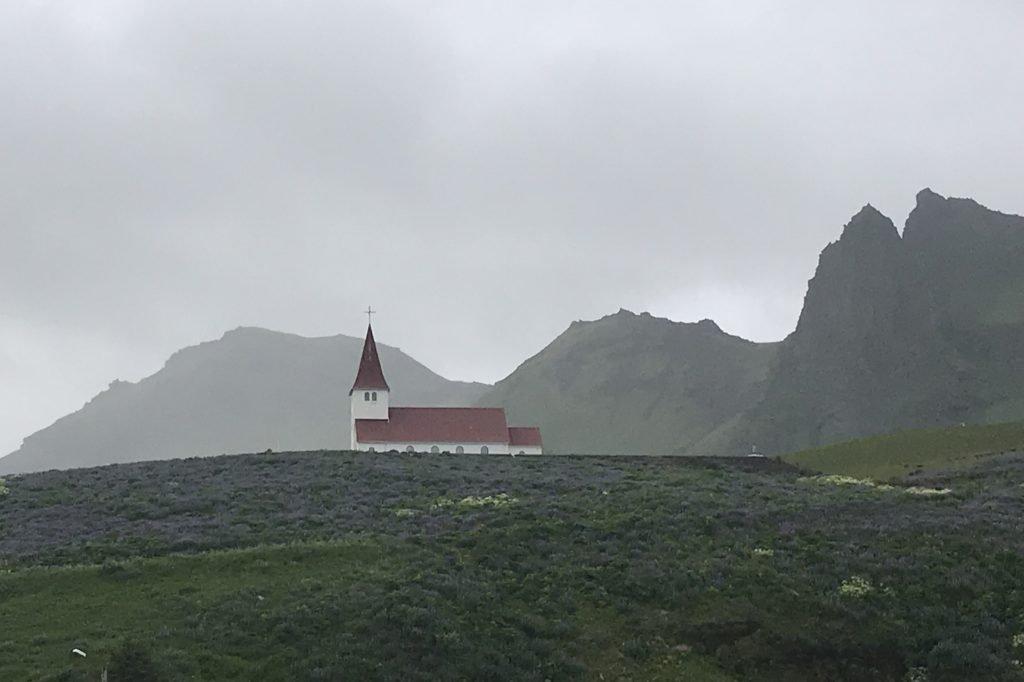Vík í Mýrdal in the south of iceland