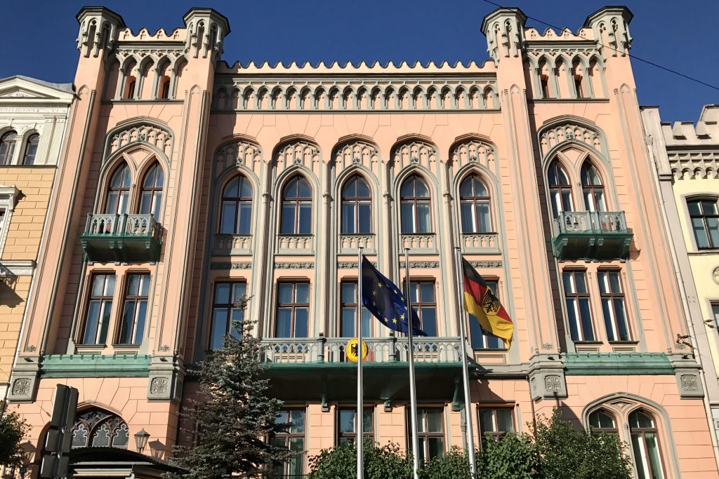 art nouveau architecture at the embassy of germany in riga latvia