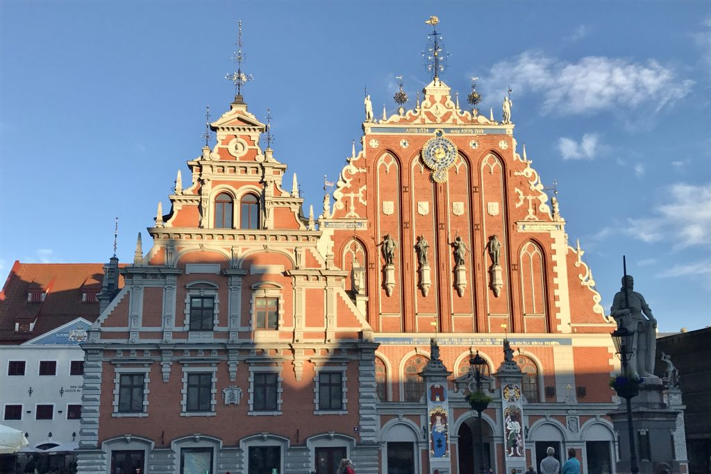House of the Blackheads ornate building in Riga old town