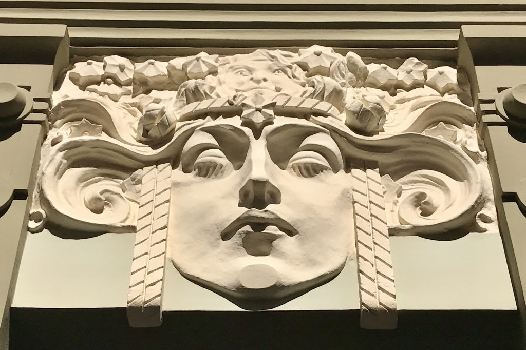 Art Nouveau detail in Riga Latvia