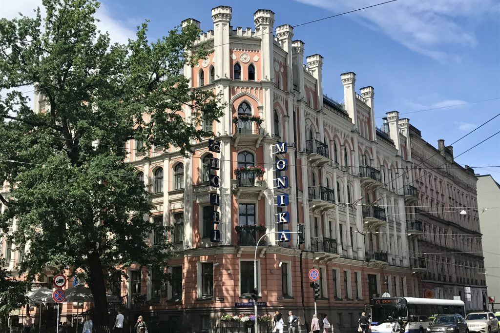 the Hotel Monika is the starting point for this Art Nouveau architecture walking tour of Riga in Latvia