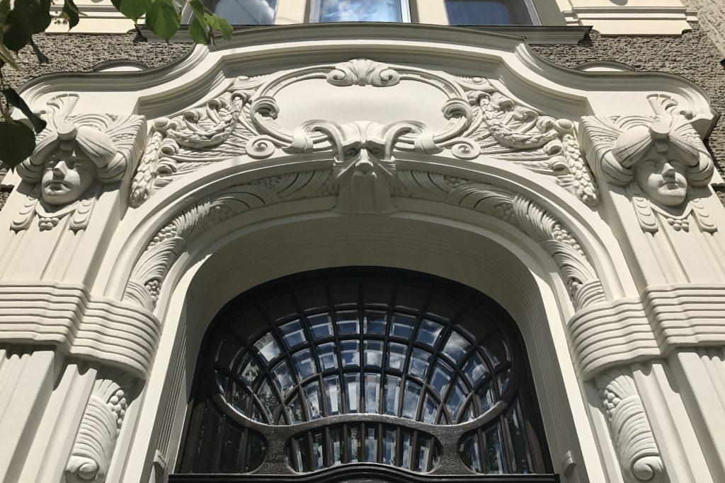 Decoratuve doorway to the Riga Art Nouveau Museum