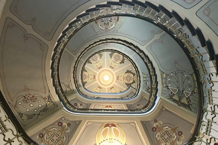 Art Nouveau design seen in the Art Nouveau walking tour of riga in latvia