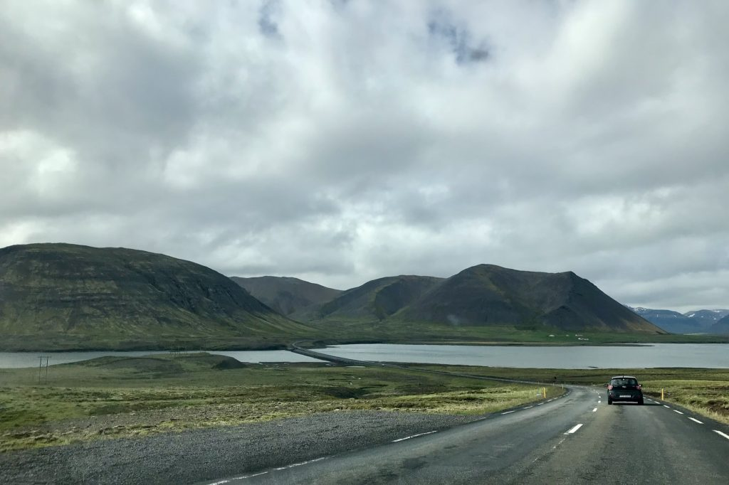 mountains and coastline on Route 54, heading west into the Snæfellsnes peninsula in Iceland