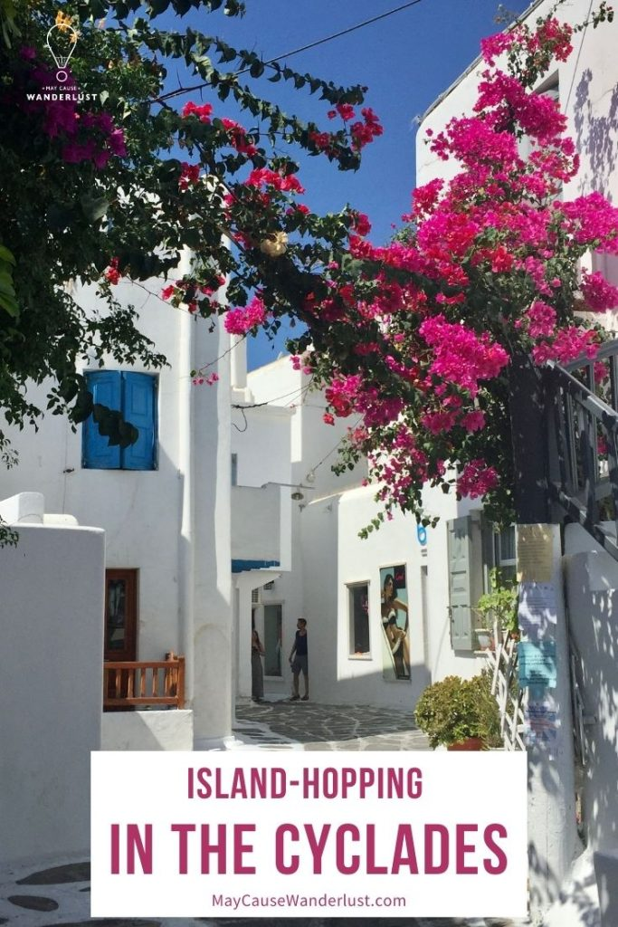Island Hopping in the Cyclades Pinterest Pin