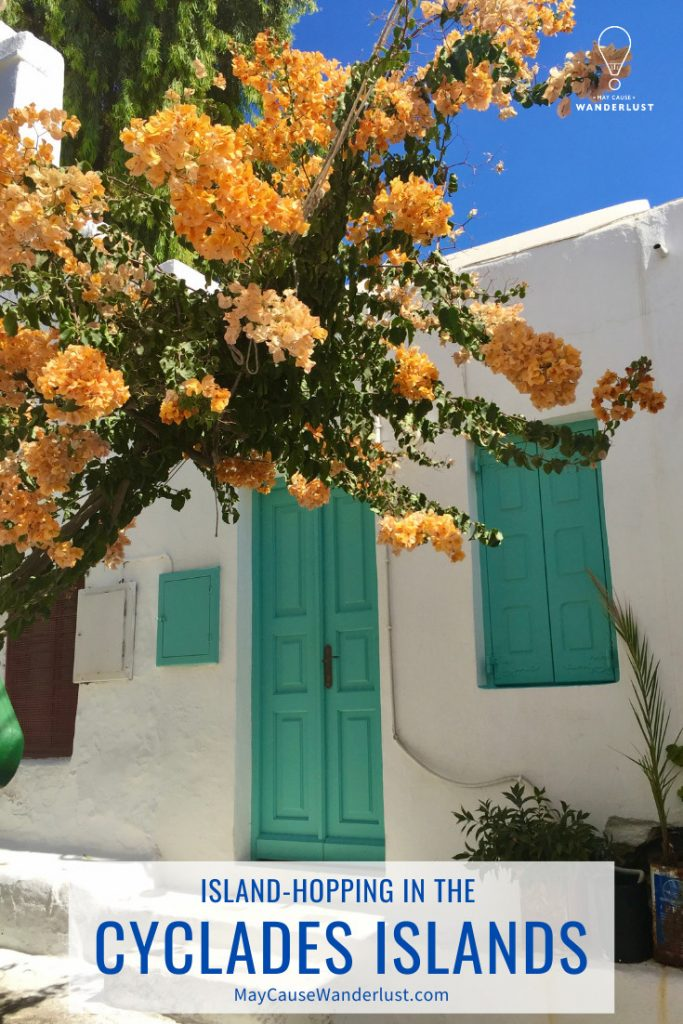 Island-Hopping in the Cyclades Islands Pinterest Pin