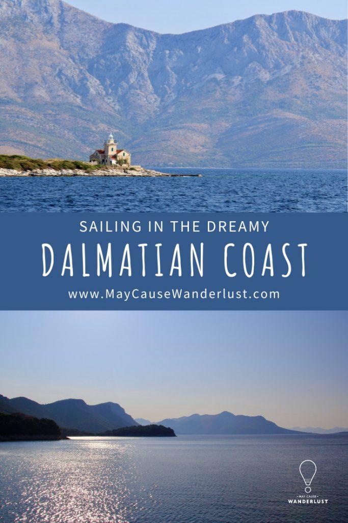 Sailing in the Dalmatian Coast Pinterest Pin