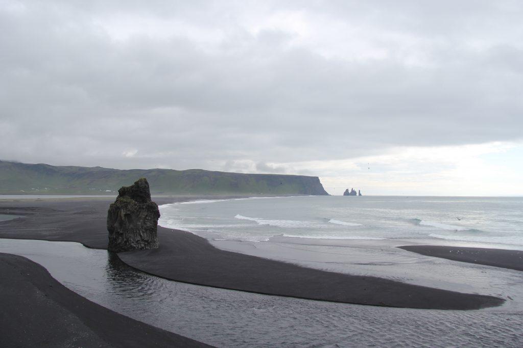 Arnardrangur rock on Reynisfjara beach in Iceland