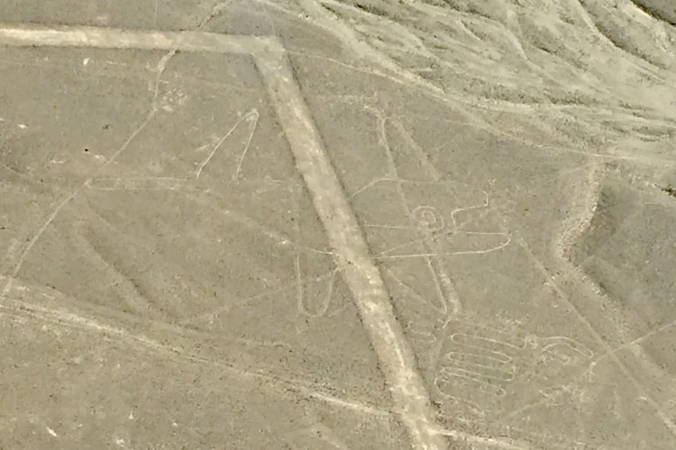 The whale figure, seen from a Nazca Lines flight