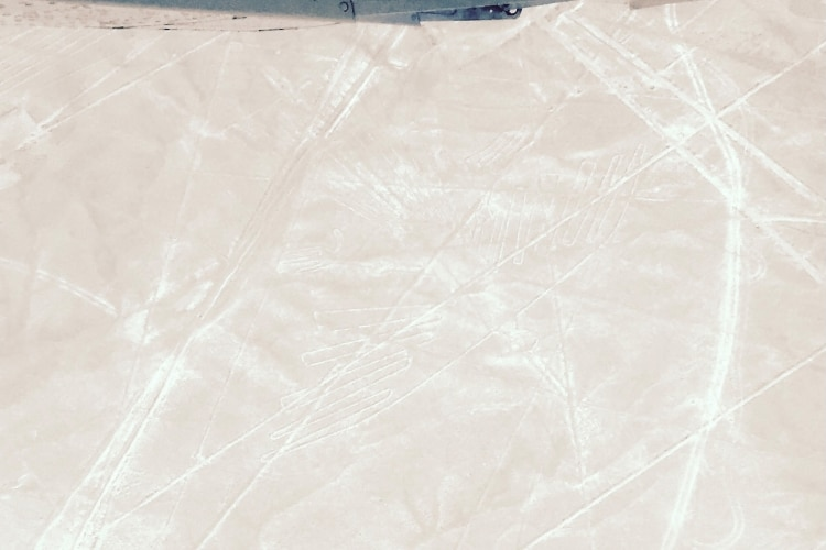The condor figure, seen from a Nazca Lines flight