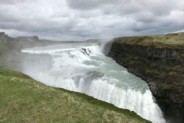 Gullfoss waterfall, on the Golden Circle in Iceland