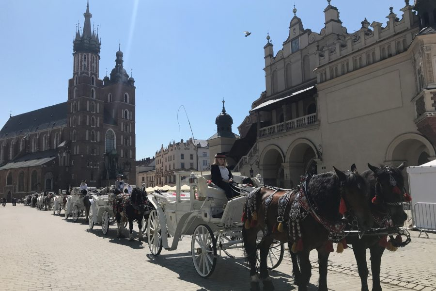 Old town square in Krakow