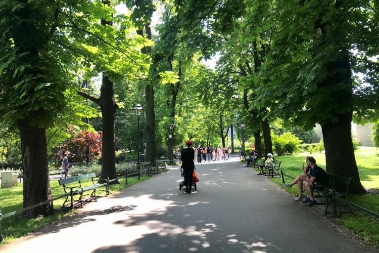 Planty Park is a leafy green belt around Kraków's old town