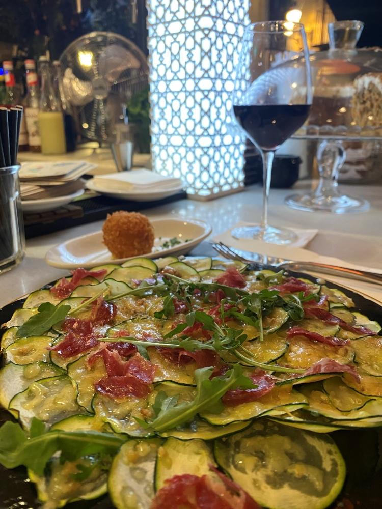 Zucchini carpaccio at Elsa Y Fred in Barcelona