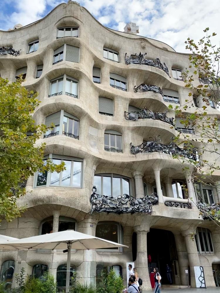 Gaudi's Casa Mila building in Barcelona