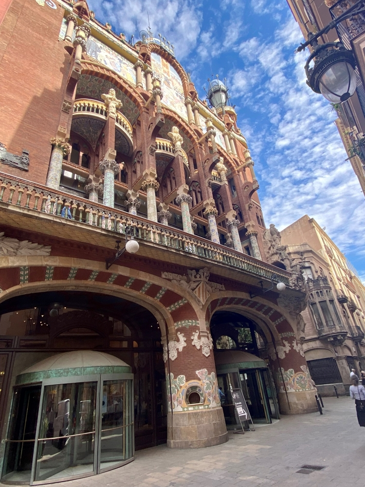 Palau de la Música Catalana in the old town of Barcelona