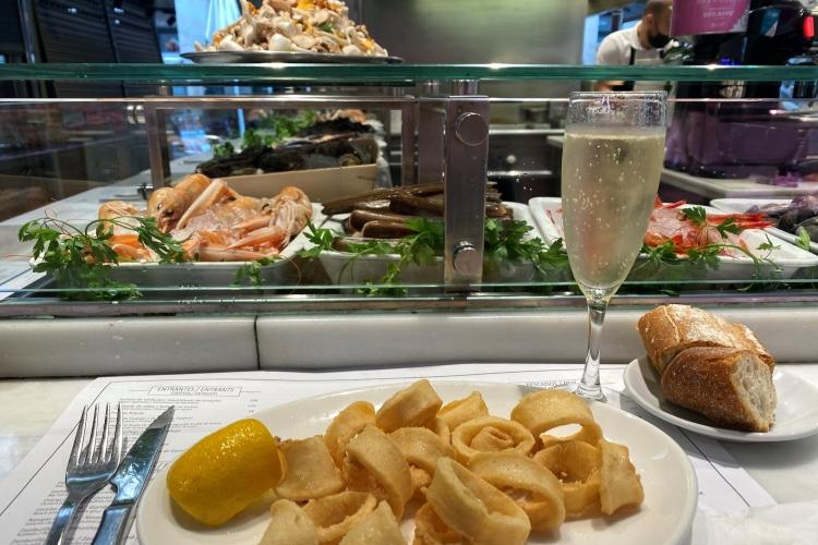 Seafood at Kiosk Universal at La Boqueria