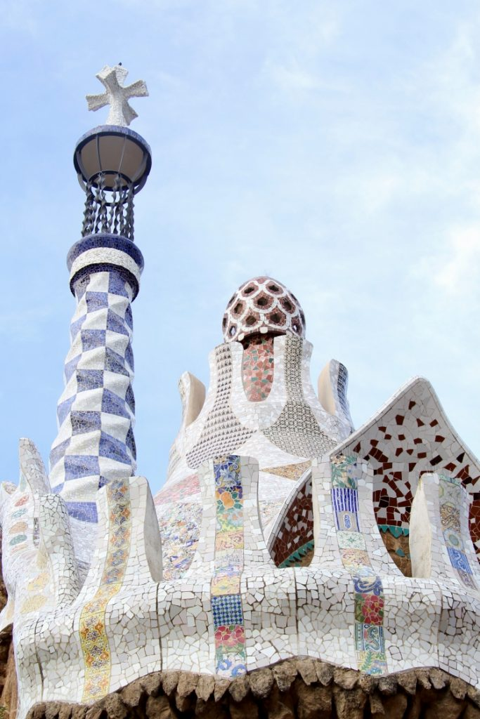 Detail from the Gaudi-designed Parc Güell in Barcelona