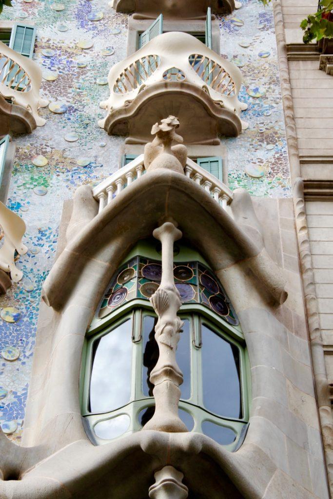 windows in Casa Batlló in Barcelona